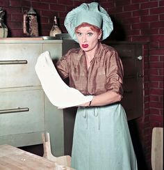 Sometimes when I'm making my cakes I feel just like Lucille Ball in this pic!  She's awesome!