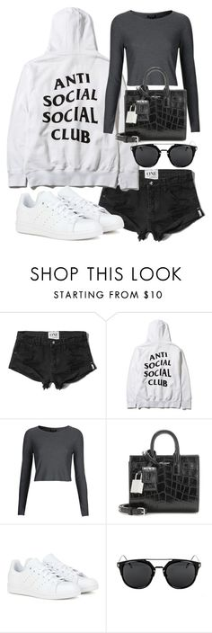 """""""Untitled #19968"""" by florencia95 ❤ liked on Polyvore featuring Abercrombie & Fitch, Topshop, Yves Saint Laurent and adidas"""