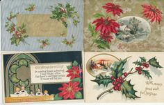 Lot of 4 Vintage Embossed Christmas Postcards-ppp568 #Christmas