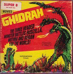 Ghidorah, the Three-Headed Monster Movies Box, Sci Fi Movies, Scary Movies, Old Movies, Cool Monsters, Horror Monsters, Movie Reels, Film Movie, Sci Fi Tv Shows