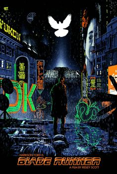 Blade Runner by Chris Koehler - Home of the Alternative Movie Poster -AMP- Blade Runner Art, Blade Runner Poster, Blade Runner 2049, Tv Movie, Cinema Movies, Indie Movies, Movie Synopsis, Arte Cyberpunk, Alternative Movie Posters