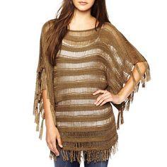 Allen B.® Crochet Fringe Pullover Sweater - jcpenney