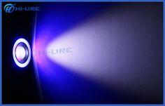Custom Blue Car Parts Headlight Cob LED Fog Light Bulbs with Angel Eyes and Projector Lens