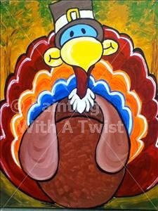 cute turkey @ painting with a twist
