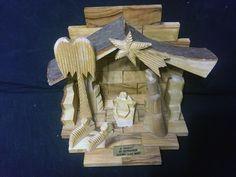 Manger Nativity Set Hand Carved Authentic Olive Wood from Holy Land Bethlehem