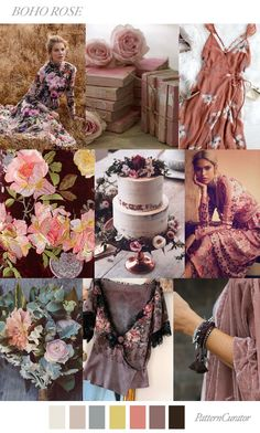 Boho Rose | PatternCurator | Style Color Palettes | Colour | Fashion Color Palettes | Mood Boards | Color Inspiration | Personal Style Online | Online Fashion Stylist | Fashion For Working Moms & Mompreneurs