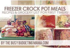 Freezer Crock Pot Meals // Prep Day #fastfood #slowcooker
