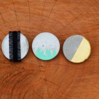 Industrial Fashion: DIY Cement Brooches Jade and Fern