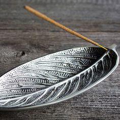 Recycled Aluminum Leaf Incense Holder – Yoga International