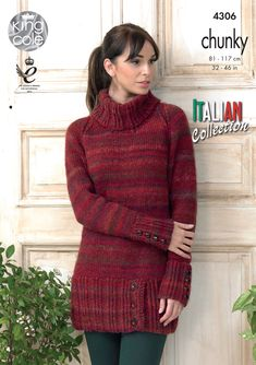 Womens Knitted Sweater Dress - King Cole