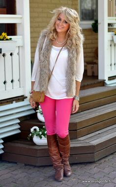 swap in red skinnies & i'd say this outfit is fall-perfect.