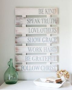 Family Rules Wood Sign {customizable} - by Aimee Weaver Designs made from reclaimed barn wood