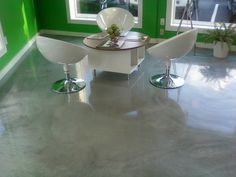 Silver designer epoxy floor at Fresh Green Light Rye NY.  Repin  Click For More Info or Quote @ Your Home / Business
