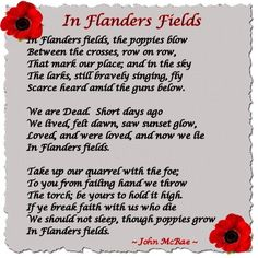 In remembrance of…. | Flanders field