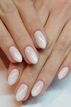 """French Fade Often known as """"baby baby boomer nails"""" for reasons we're not entirely positive concerning, this more and more well-like common ombre look options the traditional French manicure in a dreamy gradient style. Nails Yellow, Pink Ombre Nails, White Nails, Pink Nails, French Nails, Gel French, French Fade, Ombre French, Glitter Acrylics"""