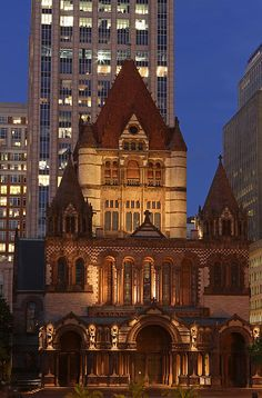 Skyline night photography image of the Boston Trinity Church on a beautiful summer night captured shortly after sunset at twilight. The Trinity Church in the City of Boston is a Christian thriving community located in the Back Bay of Boston, Massachusetts. Good light and happy photo making!  My best,  Juergen www.RothGalleries.com www.ExploringTheLight.com http://whereintheworldisjuergen.blogspot.com @NatureFineArt https://www.facebook.com/naturefineart