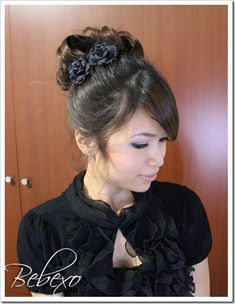 Classic Prom Hairstyle: Pin Curl Bun Updo