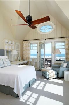 Gorgeous beach house. Comfy, cozy and cocoon-like. Normally set aside for cottages but works for bedroom too, no?  #beachhouse #bedroom #cocoon