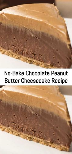 No-Bake Chocolate Peanut Butter Cheesecake Recipe – Sanji Recipe - Postres Helados Schokolade Chocolate Peanut Butter Cheesecake, Peanut Butter Recipes, Peanutbutter Pie No Bake, Chocolate Cake, Dessert Restaurant, Cheesecake Recipes, Dessert Recipes, Salty Cake, Tandoori