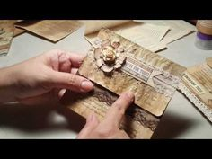 Book Page pocket and corner tuck spot. - YouTube