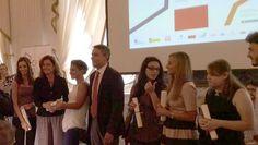 Monica Guerritore premia Maria Chiara Boldrini, vincitrice del Premio Campiello Giovani 2014