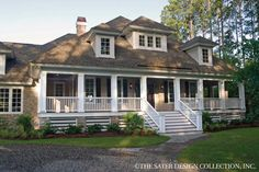 House Plan The Oak Island | Sater Design Collection | Luxury House Plans
