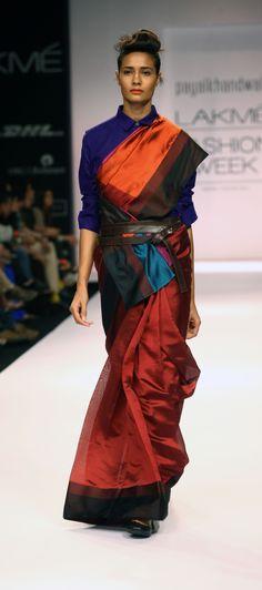 payalkhandwala - AW/2013 - Silk Shirt, Silk Sari