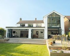 Image result for two storey full width rear extension with full height glazing