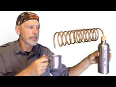 Water Distillation With two Stainless Steel Water Bottles http://rethinksurvival.com/water-distillation-with-two-stainless-steel-water-bottles-video/