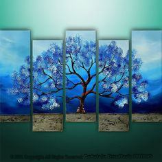 Abstract Modern Landscape Tree Asian Art by Gabriela by Catalin @etsy