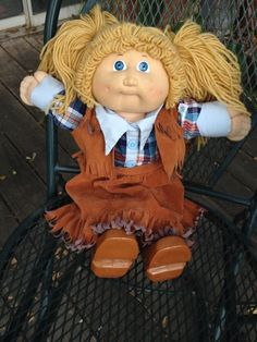Vintage Cowgirl Cabbage Patch kid #Dolls