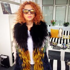 Anda exhibits rad Lacerta sunglasses from Ksubi. You can buy the designer here.