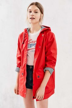 Petit Bateau Rain Coat - size medium, can't decide on red or blue