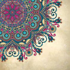 flor diseño círculo sobre fondo grunge con adornos de encaje