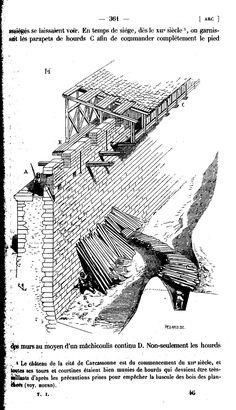 Darcy saved to officePage:Viollet-le-Duc - Dictionnaire raisonné de l. Medieval Houses, Medieval Life, Medieval Castle, French Architecture, Historical Architecture, Welsh Castles, Castle Wall, Fortification, Military History