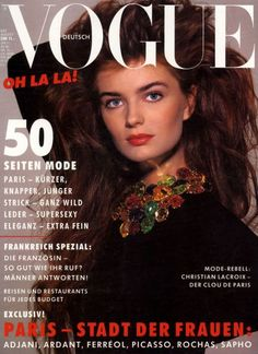 Paulina Porizkova Vogue Deutsch August 1987