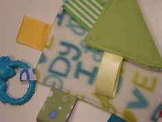 Green and Blue I Love Mommy I Love Daddy Boy Baby Lovie by tbllovies, $6.50