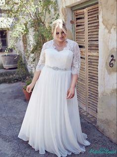 "Lace sleeve wedding dress ""the Elegance"" | Leah S Designs"