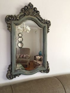 Funky Furniture, Furniture Makeover, Painted Furniture, Solid Wood Dresser, Mirrored Picture Frames, Statues For Sale, Vintage Photo Frames, Ornate Mirror, Shabby Chic Frames