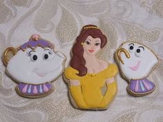 """Beauty and the Beast """"Belle"""" Decorated Sugar Cookie Collection"""