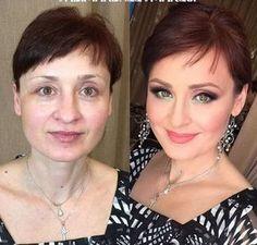 Cabelo e maquiagem na terceira idade - Antes e Depois - Blog DeFrenteParaOMar