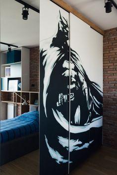 #synthesisquatro #boyroom #sq #betman #design #interiordesign #brickwall
