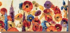 Joyful Garden Stretched Canvas Print by Silvia Vassileva at Art.com