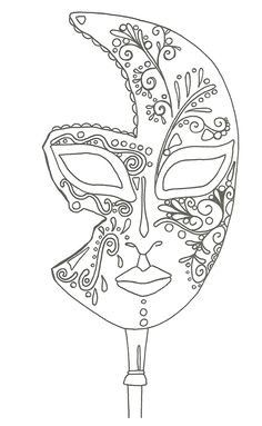 "iColor ""I Love Coloring II A&E"" ~ masque de Venise Make your world more colorful with free printable coloring pages from italks. Our free coloring pages for adults and kids. Coloring Book Pages, Printable Coloring Pages, Coloring Sheets, Mask Template, Quilling Patterns, Digi Stamps, Free Coloring, Kids Coloring, Colorful Pictures"