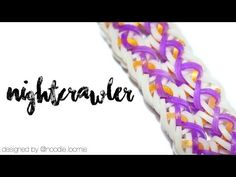 Nightcrawler | Rainbow Loom Hook Only Design by @noodle.loomie - YouTube