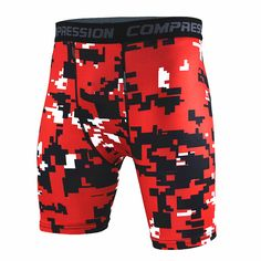 New 2016 Brand Clothing Male Camouflage Compression Tights Shorts Bermuda Masculina Men Short Pants Free shipping