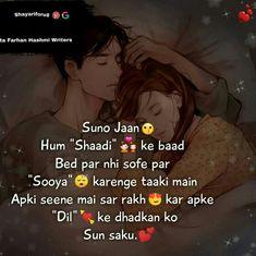Jagah to h nai sofe pe 😂😂😒 Need Love Quotes, Love Sayri, Cute Love Lines, Love Picture Quotes, Love Quotes In Hindi, Cute Couple Quotes, Love Quotes With Images, Romantic Love Quotes, Romantic Images