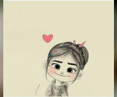 D sketch ✏ ( Cute Girl Drawing, Cartoon Girl Drawing, Cartoon Drawings, Cartoon Art, Cartoon Girl Images, Girl Cartoon Characters, Cute Cartoon Girl, Girly Drawings, Disney Drawings