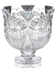 House of Waterford Serveware, John Connolly Pallas Crystal Punch Bowl