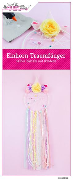 DIY Einhorn Traumfänger selber basteln DIY unicorn dreamcatcher DIY with children. This dreamy DIY will love children and are happy to be involved in crafting. The creative and playful DIY unicorn pro Diy Gifts For Kids, Gifts For Teens, Gifts For Family, Diy For Kids, Crafts For Kids, Diy Niños Manualidades, Handicraft, Christmas Diy, Diy And Crafts